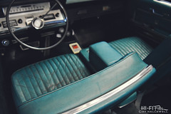 Once Luxurious (Hi-Fi Fotos) Tags: lincoln continental vintage american luxury classiccar interior worn leather cabin blue steeringwheel dash seat bucket age driver pov 8track 1960s nikkor 1755 28 nikon d7200 dx hififotos hallewell