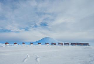 Fuel Trucks In Antarctica