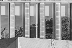 every window like an ink painting! HWW (Wendy:) Tags: belfield campus ucd windows reflections confuciusinstitute hww