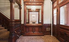 Brooklyn New York old brownstone foyer Victorian woodwork (techpro12) Tags: parkslope newyork old room interior brownstone historic foyer mirror ornate door partition victorian stairway stairs stairwell woodwork