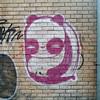 Panda Graffiti (Fred:) Tags: panda graffiti montreal ruelle back alley downtown alleys alleyway animal magenta pink white paint streetart montréal urban street art urbain city brick wall texture pandas bear