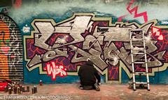 Art in the Leake Street Tunnel, London (Alaskan Dude) Tags: travel england london leakestreet leakestreettunnel art publicart painting wallmurals grafitti