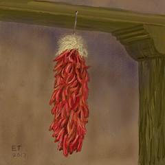 New Mexico Ristra (EllieTaylorArtist) Tags: newmexico ristra chilepeppers redchile ellietaylor paintcreations blart