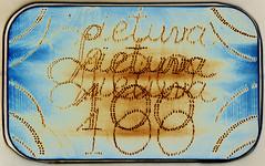 Vertical shift (batuda) Tags: pinhole obscura stenope lochkamera multi multiple lightpainting torch tin barkleys altoids 6x9 mediumformat paper kodak polymax d76 11 color colour text vasario16 february16 valstybės atkūrimo diena 100 šančiai kaunas lithuania lietuva