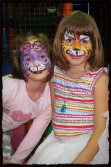 painted masks :) (green_lover) Tags: girl daughter child children mask smileonsaturday portrait people two frame