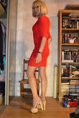 DSC_0027 (magda-liebe) Tags: anklet crossdresser french tgirl highheels shoes minidress travesti chainedecheville