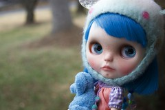 Georgie (Chassy Cat) Tags: littlematildaatelier simply sparkly spark fbl blythe custom doll fantasy hair