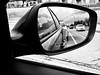 Tailgating (alfredo_tomato) Tags: lexingtonky olympusem10 lumix20mm17 traffic reflection blackandwhite