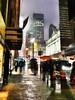 New York (Stéphanie Bourgeois) Tags: rain newyork skyscrapper highline brooklyn bronx greenline statueofliberty hudson newjersey usa streetshots streetfood traffic blackwhite bw yellowtaxi peopleofnyc peopleofnewyork graffitis streetart umbrella people road building city sidewalk