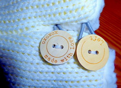 Made With Love (Lilith.S) Tags: macromondays macro fastener buttons love xoxo knitted white knitting