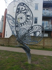 Butterfly, Steve Tomlinson (Sculptor), Chichester Canal Basin (f1jherbert) Tags: lgg6 lgelectronicslgh870 lgelectronics lg g6 lgh870 electronics h870 chichestercanal chichester canal west sussex