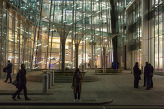Entrance (SReed99342) Tags: london uk england canarywharf building entrance night trees sculptures