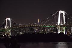 Japan - Tokyo (SergioQ79) Tags: japan tokyo odaiba bridge night asia water lights notte città skyline cielo ponte acqua