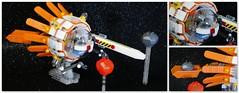 Space debris cargo . (peter-ray) Tags: lego space debris cargo mini figure alien peter ray orbital veicle samsung nx2000 ship astronave moc brick meteor
