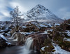 A place to dream.... (sarahOphoto) Tags: 6d canon glencoe highlands kingdom scotland uk united glen coe coupall river waterfall waterfalls long exposure lee big stopper buachaille etive mor mountain snow dusting clouds sky blurred slow water landscape nature