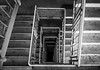 down (nolte_) Tags: black contrast dirt down fuji shadow stairs white x10 schwerin stairway symmetric architecture