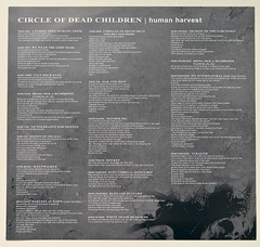 A0521 CIRCLE OF THE DEAD CHILDREN Human Harvest (vinylmeister) Tags: vinylrecords albumcoverphotos heavymetal thrashmetal deathmetal blackmetal vinyl schallplatte disque gramophone album
