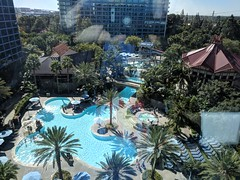 The Pool (earthdog) Tags: 2018 disneyvacation disney vacation2018 building disneylandhotel pool water window outwindow view googlepixel pixel androidapp moblog cameraphone needstags needstitle disneyland anaheim california vacation travel