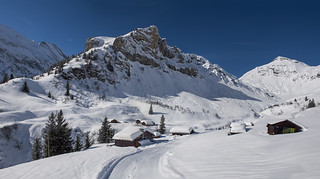 Gimmela (Murren ) and the Schilthorn at winter time . Canton of Bern Switzerland.Izakigur 19/02/2018 12:24:54 .