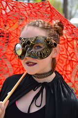 Steampunk Beauty (radargeek) Tags: medievalfair normanmedievalfaire2017 2017 april norman reavespark costume umbrella mask
