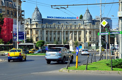 Central Bucharest Street (Gedsman) Tags: romania europe bucharest wallachia history historical tradition traditional capital beauty travel blueskies modern architecture