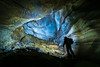 Travelling to the underworld 😱 (frodekoppang) Tags: cave olympus laowa75mm northernnorway underworld darkness glacier svarthammarhola norway