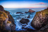 Not for the Faint-Hearted (Augmented Reality Images (Getty Contributor)) Tags: portknockie longexposure coastline landscape sunset scotland cliffs water waves leefilters morayfirth canon seascape clouds rocks unitedkingdom gb