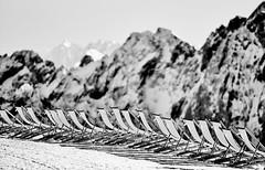 Take a Seat, Please!  Zugspitzplatt, Bavaria (W_von_S) Tags: takeaseatplease nehmensiebitteplatz zugspitze zugspitzplatt sitze seats berge mountains alpen alps garmischpartenkirchen grainau skigebiet skiresort high glaciers gletscher winter snow schnee sony sonyilce7rm2 werner wvons outdoor januar january 2018 blackwhite schwarzweis monochrome monochrom depthoffield tiefenschärfe fokus focus light shadows