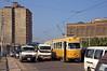 Nur langsam kann sich Düwag-Wagen 806 im Bereich der Haltestelle Mina El Basl durch den Verkehr kämpfen (Frederik Buchleitner) Tags: 806 alexandria duewag düwag gt6 ks kopenhagen københavnssporveje linie1 misr sechsachser sporveje strasenbahn streetcar tram trambahn aliskandariyya ägypten الإسكندرية مصر