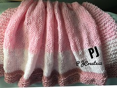 Knit Baby Blanket Shades of Pink Rose (Jack4Phil) Tags:
