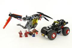 "Robin's Pterodactyl - LEGO 70905 Alternate MOC (""grohl"") Tags: lego batman movie 70905 alternate moc model cmodel car dino dinosaur pterodactyl robin flying vehicle mecha buggy batty grohld grohl666 manbat kabukitwins"