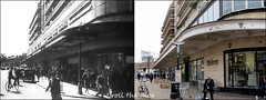 Finchley Road`1947-2018 (roll the dice) Tags: london camden old nw3 retro bygone vanished demolished nostalgia comparison changes collection architecture streetfurniture oldandnew pastandpresent hereandnow urban england fashion uk art classic mad sad surreal filming locations tpbennett artdeco johnlewis flats dwelling windows supermarket local history swisscottage balcony lights trolley pedestrianised shops shopping people traffic cars film love