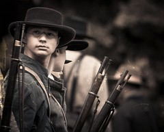 Civil War portrait.... (Kevin Povenz Thanks for all the views and comments) Tags: 2015 september kevinpovenz westmichigan michigan holland civilwar muster reenactment boy child soldier male gun guns musket