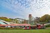 Hansa Park - Express vor Barracuda Slide und Der Schwur des Kärnan (www.nbfotos.de) Tags: hansapark express eisenbahn parkbahn barracudaslide rutsche derschwurdeskärnan achterbahn rollercoaster freizeitpark vergnügt themepark sierksdorf
