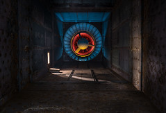 Abandoned Power Station Fife Scotland- gas combustion chamber