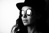 Lorena (Johan Gustavsson) Tags: lorena portrait porträtt sunglasses glasses solglasögon indoor inomhus softbox bw blackandwhite svartvit svartvitt woman kvinna johangustavsson