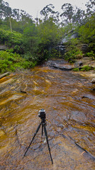 Behind the scene. (Eddy Summers) Tags: lgg5 smartphone bluemountains tripod waterfall