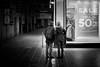 Risk Assessment (stephen cosh) Tags: blackandwhite candid film glasgow glasgowstreet scotland stephencosh streetphotography trix400