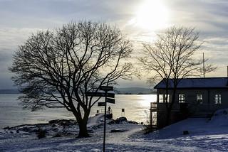 Winter sun at Huk