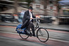 Man cycling in Amsterdam. (James- Burke) Tags: amsterdam cyclists holland man movement netherlands street bikes
