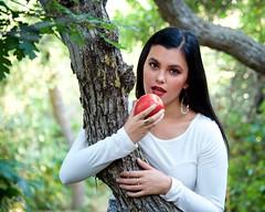 Jewel as Eve (The Good Brat) Tags: colorado us jewel model roxboroughstatepark eve apple eden tree nature park outdoor pretty beautiful woman girl female brunette concept theme temptation