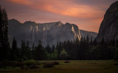 Yosemite at the End of the Day - Explored (PrevailingConditions) Tags: yosemite yosemitenationalpark sunset landscape mountains trees grass clouds mountain tree wood sky forest field ca california nps