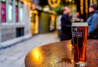 Glass of Shepherd Neame Beer ( Pub -  City of London) Fujifilm X100F (1 of 1)