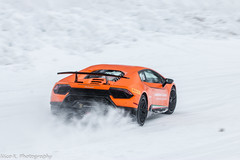 LP640-4 Performante (Nico K. Photography) Tags: lamborghini huracán lp6404 performante matte orange supercars nicokphotography snow drifting italy livigno