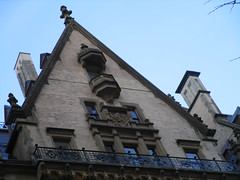 Dakota Apartment Building Native American Indian Head Detail Gargoyle 7132 (Brechtbug) Tags: dakota american indian gargoyle the apartment building central park west nyc 72nd street exterior view february 02182018 2018 new york city rooftop above native americans indians built 1881 art architecture former home john lennon current apartments yoko ono featured predictable but dread filled horror film rosemarys baby 1968 movie director roman polanski head detail