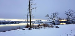 Winter land in Norway (Kristoffer Hansen) Tags: norway ice snow winter sun sunset mountain mountains landscape nature weather water lake tops