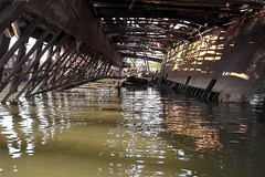 Inside The Whale (95wombat) Tags: old abandoned rotted decayed derelict rusty decrepit marinegraveyard arthurkill statenisland newyork