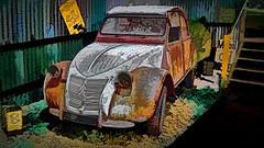 Launceston Motor Museum (Bobinstow2010) Tags: citroen 2cv car arty colour color topaz photoshop tasmania launceston museum old scrap delapidation