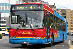 4843 R843 PRG (Cumberland Patriot) Tags: go ahead goahead gonorthern gowear gonortheast northern north east newcastle upon tyne and wear pte passenger transport executive buses volvo b10ble wright wrightbus renown b44f 4843 r843prg low floor bus derv diesel engine road vehicle neville street 45 consett