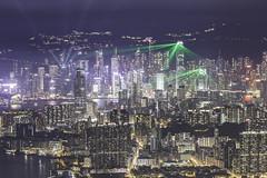 Beam (spiraldelight) Tags: ef70300mmf456isusm eos5dmkiv hong kong 香港 シンフォニー・オブ・ライツ asymphonyoflights night ifc 中環 kowloonpeak light beam